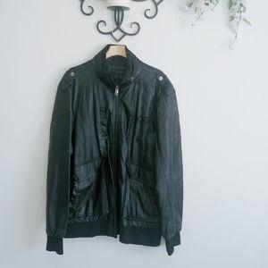 ⚡FLASH SALE⚡Coogi faux leather bomber jacket
